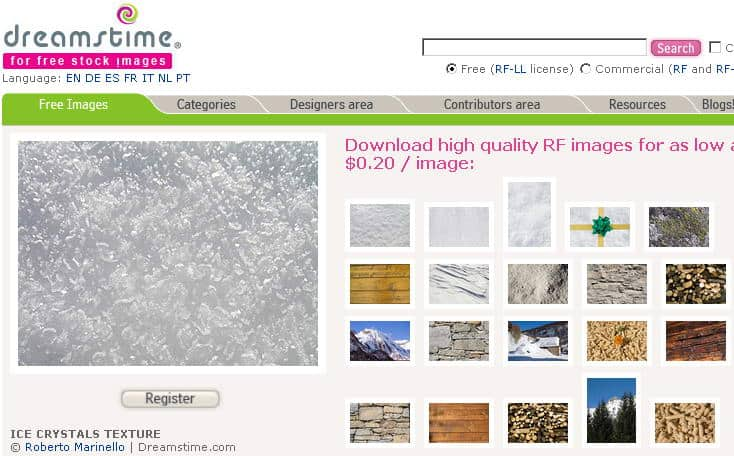 dreamstime free section