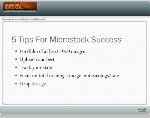 tyler 5 tips microstock success