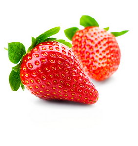 Isolated fruits - Strawberries on white background