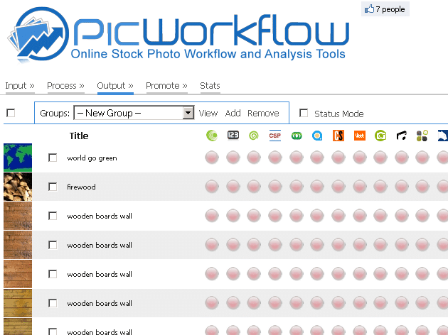 picworkflow output page