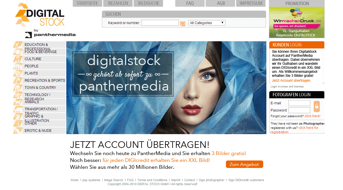 Digitalstock moves to Panther Media
