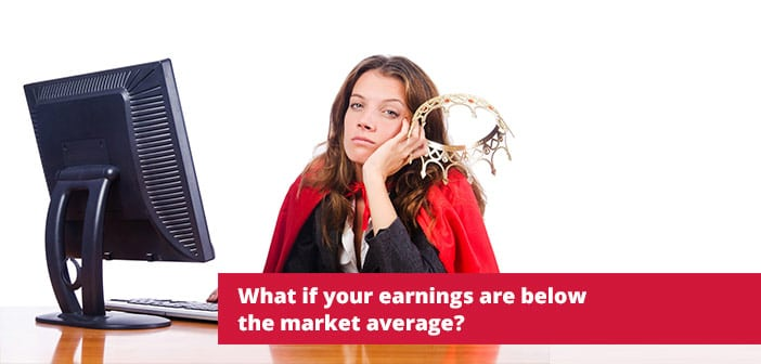earnings below the market