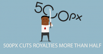 500px cuts Royalties more than Half